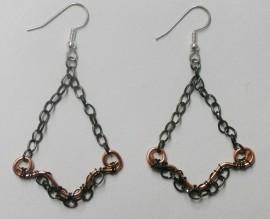 Gypsy Gunmetal Chain Earrings
