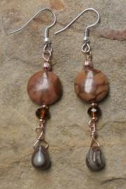 Bloodstone Jasper Dangle Earrings