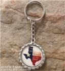 Bottlecap Keychain-I've Got Texas In My Soul