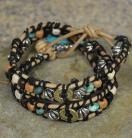 Earthtone and Turquoise Ammo Leather Choker/Bracelet