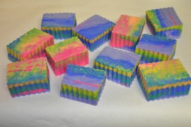 Bright Rainbow Psychedelic Soap