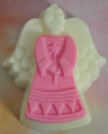 Angel Soap-Pink Body White Head and Wings