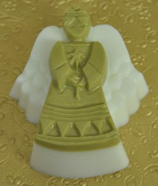 Angel Soap-Sparkly Gold Body and Head and White Wings